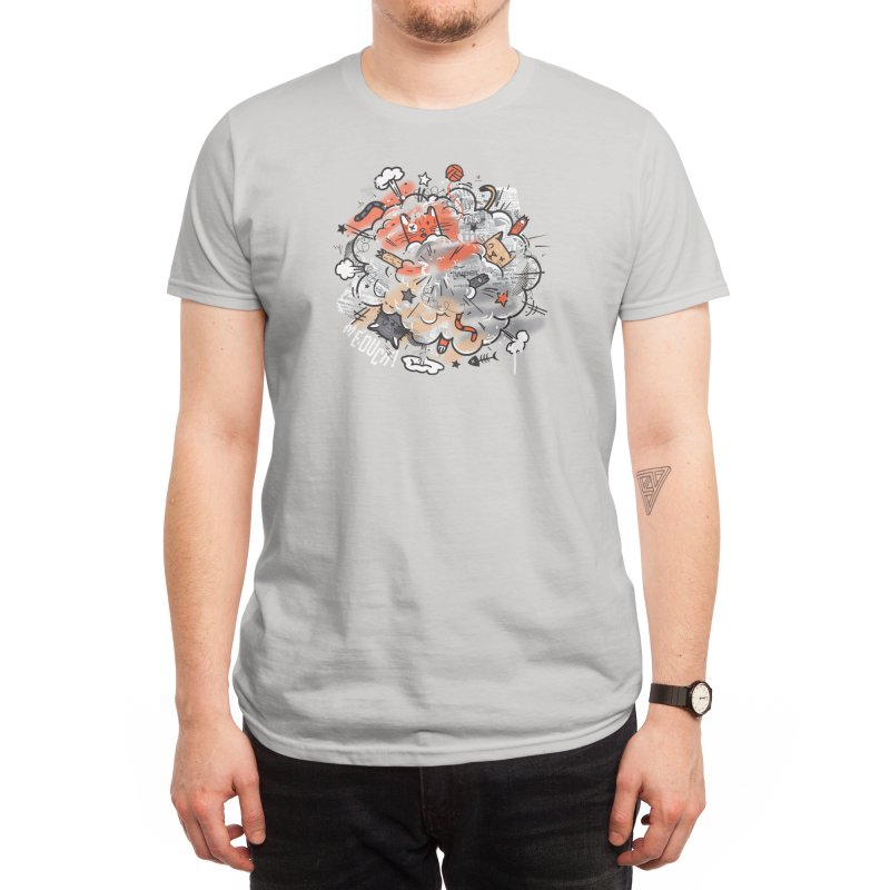 Cat Fight Men's T-Shirt by Threadless Artist Shop