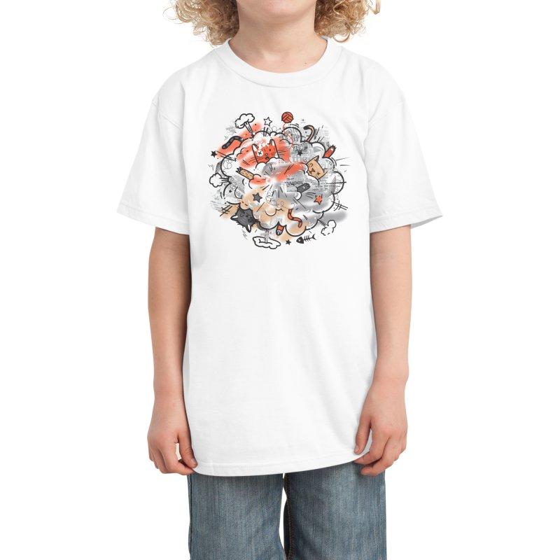 Cat Fight Kids T-Shirt by Threadless Artist Shop