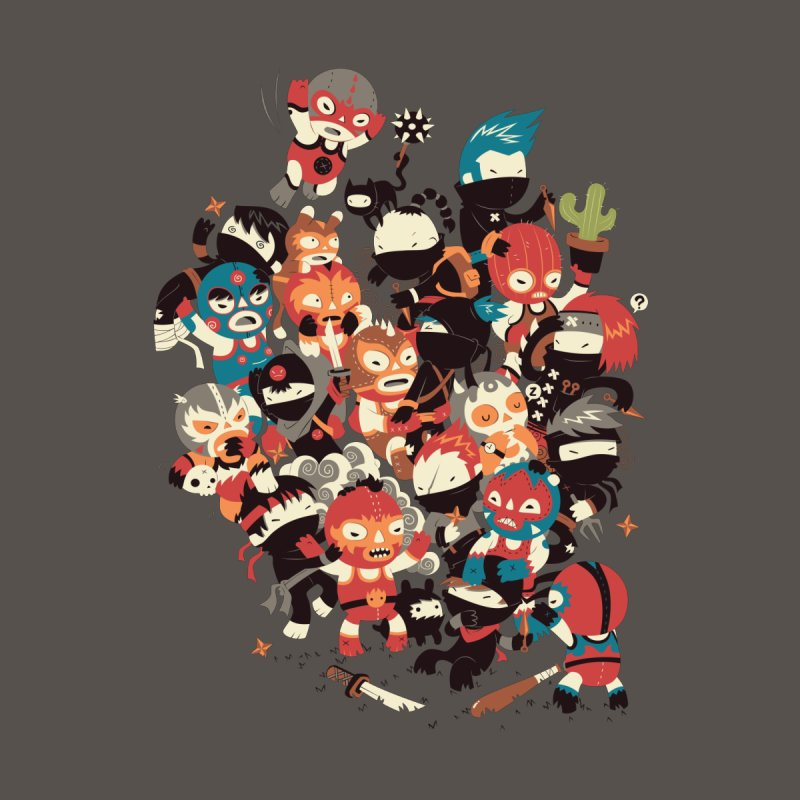 Ninjas vs Luchadores Kids T-Shirt by Threadless Artist Shop