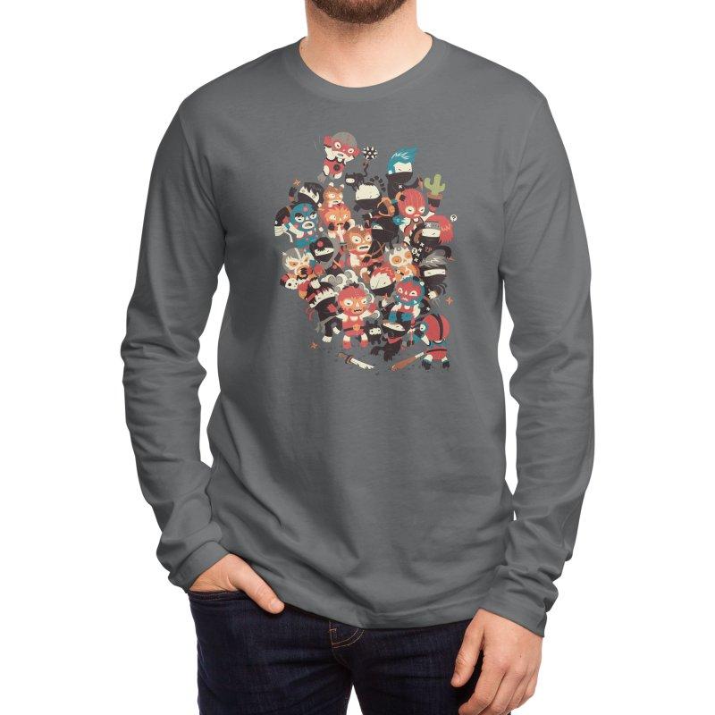 Ninjas vs Luchadores Men's Longsleeve T-Shirt by Threadless Artist Shop