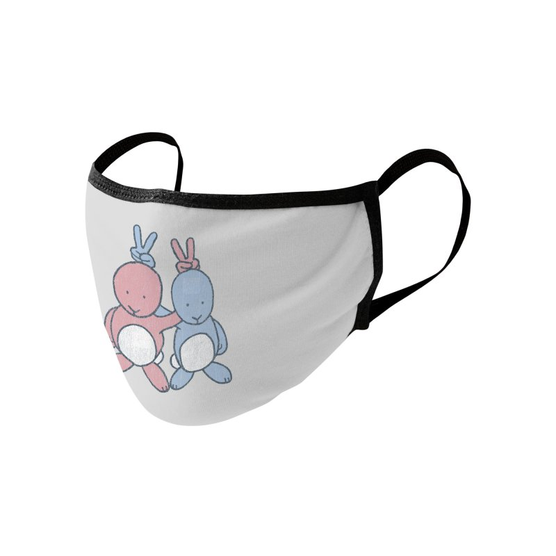 Bunny Ears Accessories Face Mask by Threadless Artist Shop
