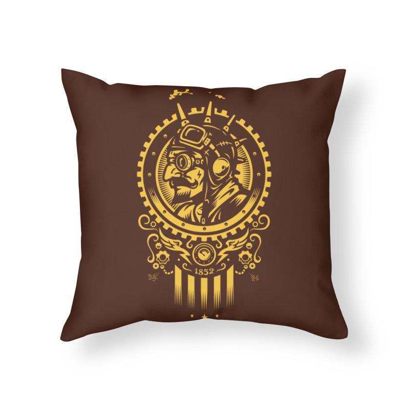 Steampunk 1852 Home Throw Pillow by Threadless Artist Shop