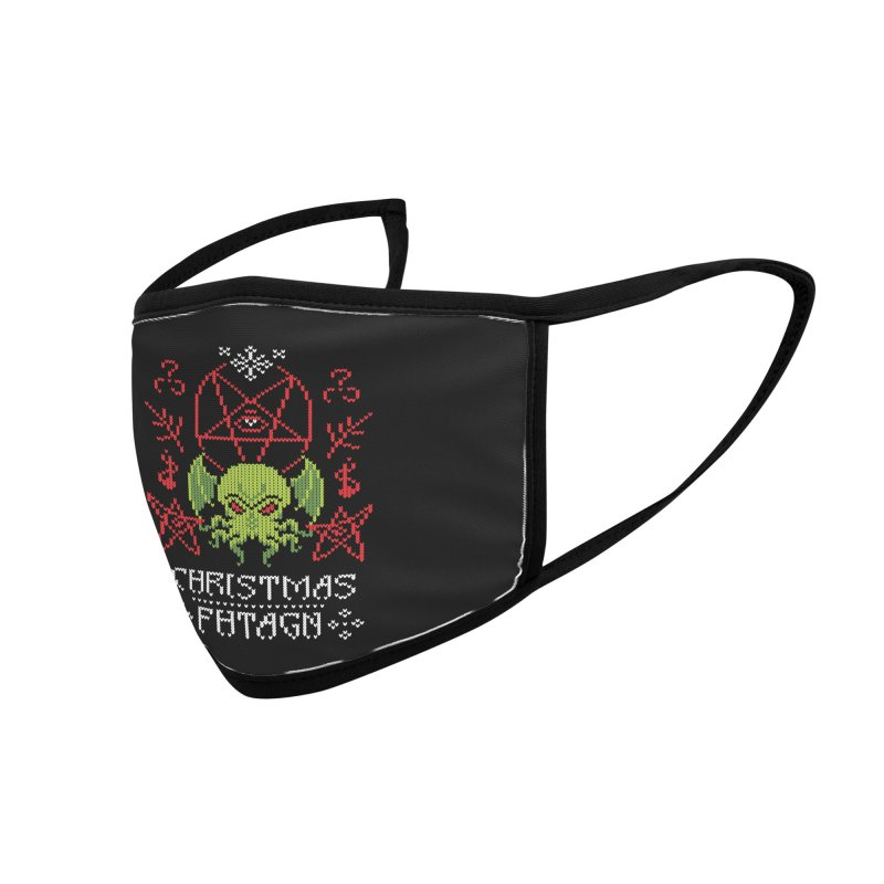 Merry Cthulhu Accessories Face Mask by Threadless Artist Shop