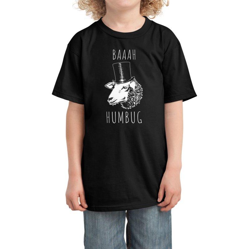 Baaah Humbug Kids T-Shirt by Threadless Artist Shop