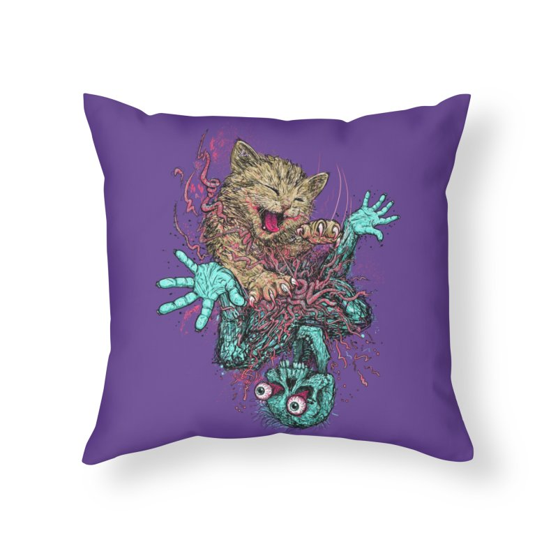 Zombie Nomz Home Throw Pillow by Threadless Artist Shop