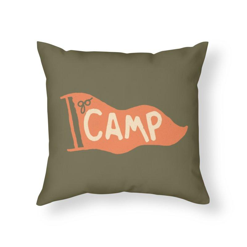 Go Camp! Home Throw Pillow by Threadless Artist Shop