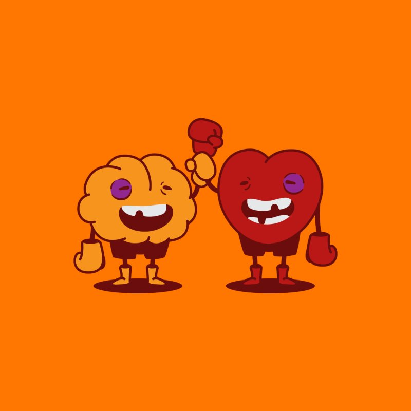 Heart Always Wins ;D Men's T-Shirt by Threadless Artist Shop