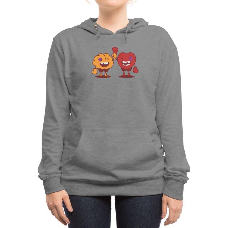 Heart Always Wins ;D Women's Pullover Hoody by Threadless Artist Shop