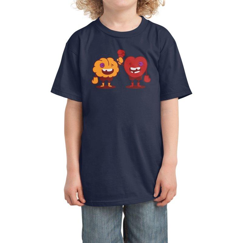 Heart Always Wins ;D Kids T-Shirt by Threadless Artist Shop