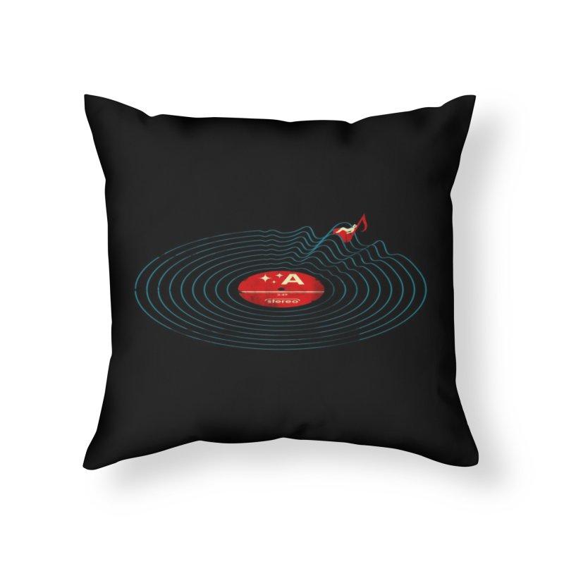 Soundwaves Home Throw Pillow by Threadless Artist Shop