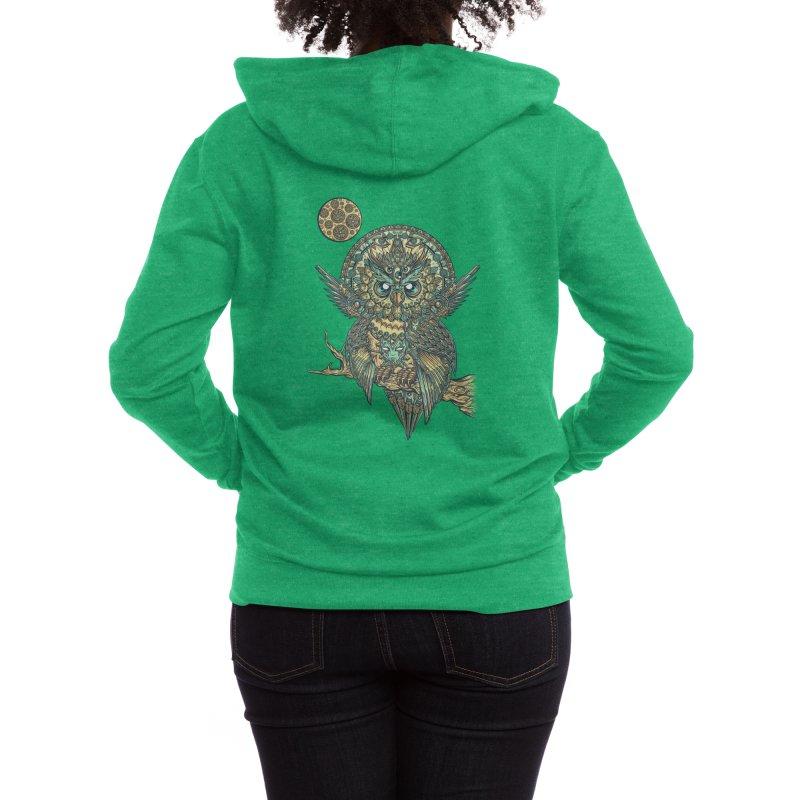 God Owl of Dreams Women's Zip-Up Hoody by Threadless Artist Shop