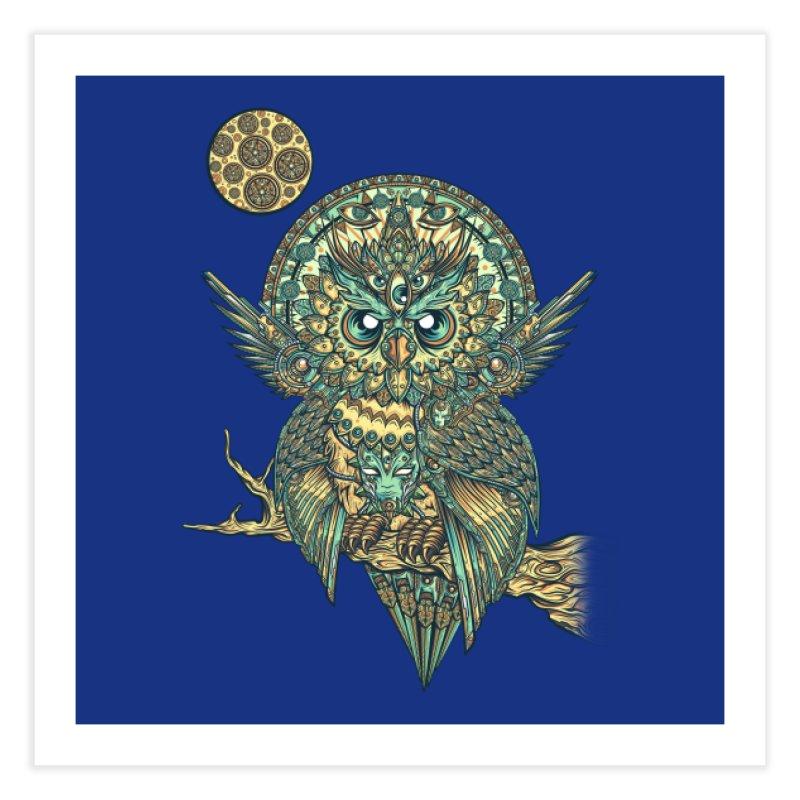 God Owl of Dreams Home Fine Art Print by Threadless Artist Shop