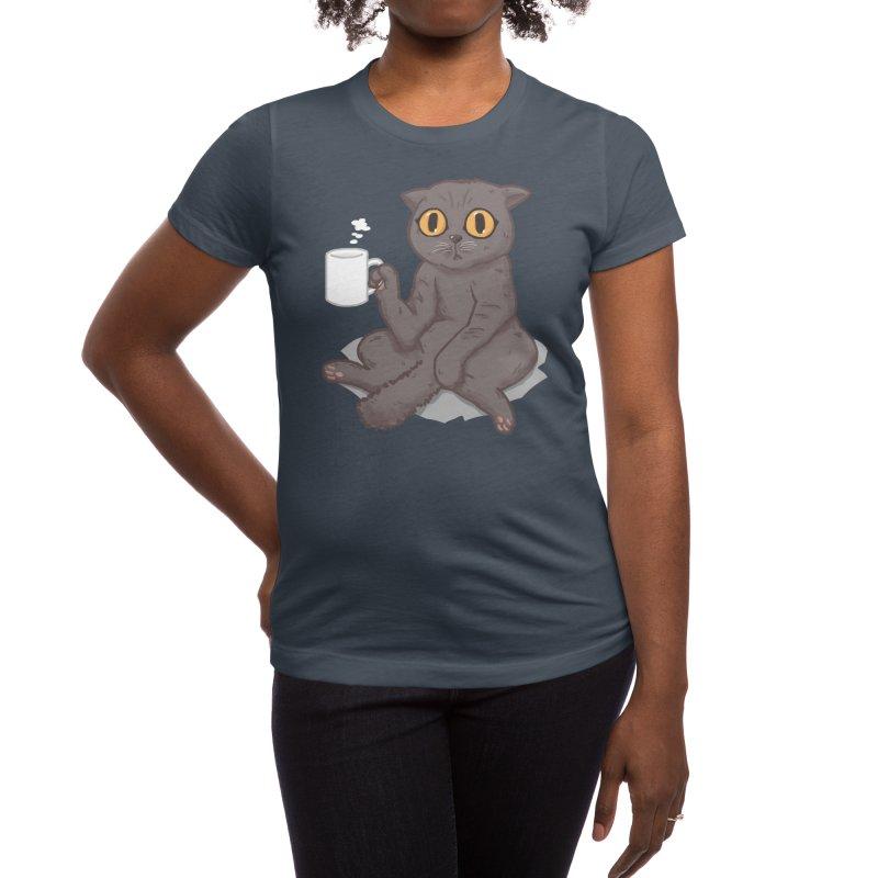 Catffeinated Women's T-Shirt by Threadless Artist Shop