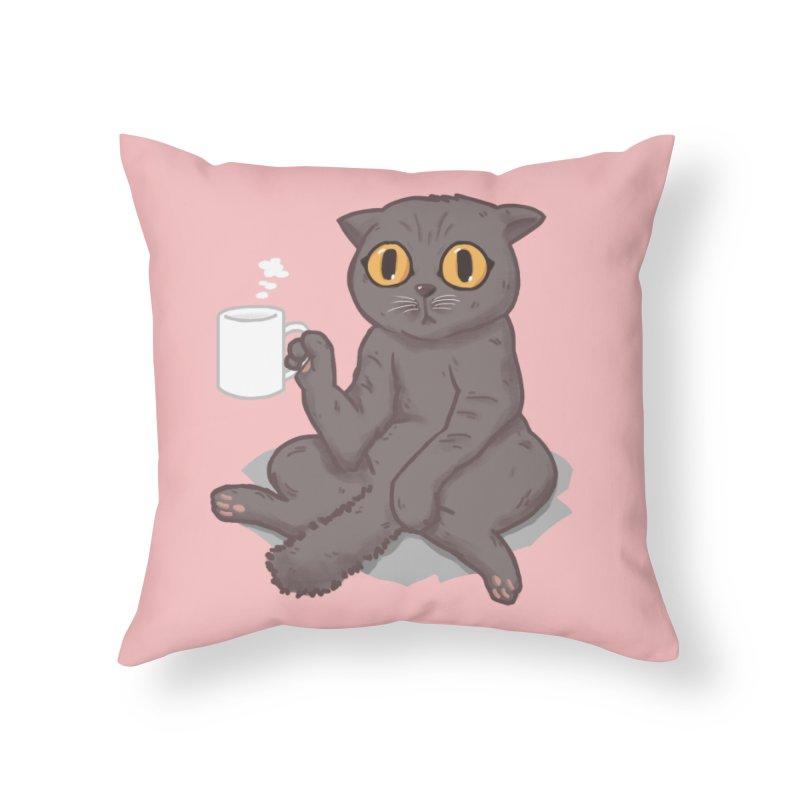 Catffeinated Home Throw Pillow by Threadless Artist Shop