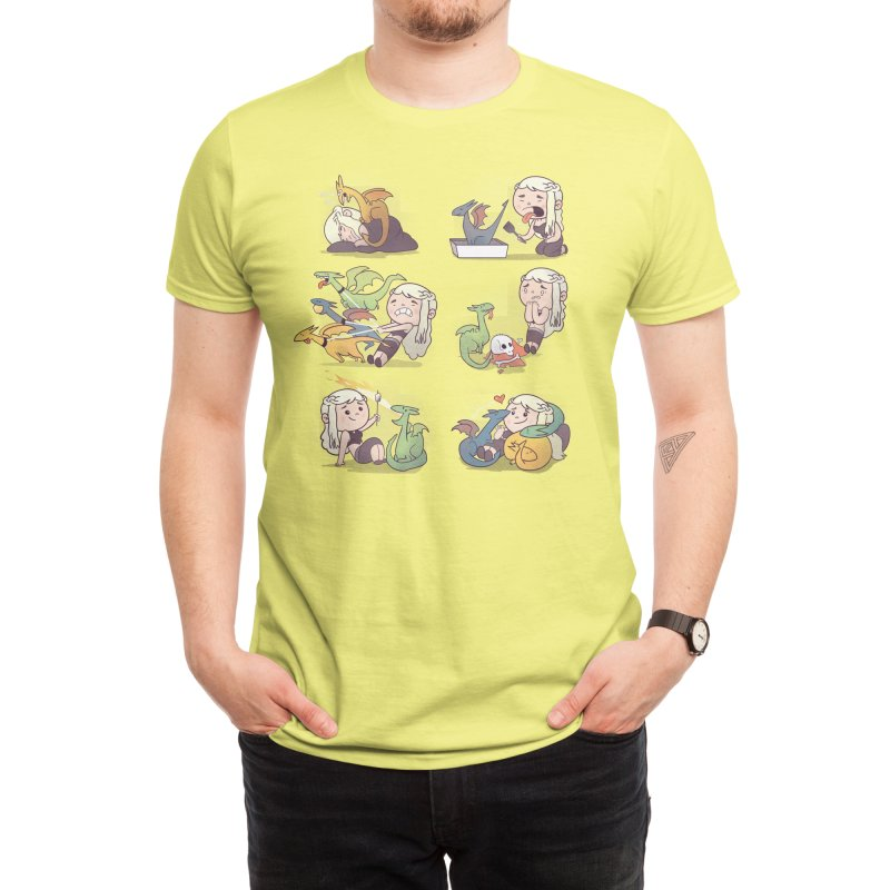 Crazy Dragon Lady Men's T-Shirt by Threadless Artist Shop