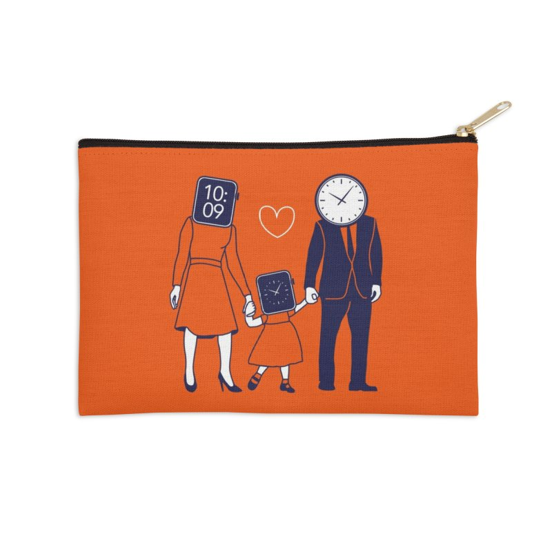 Family Time Accessories Zip Pouch by Threadless Artist Shop