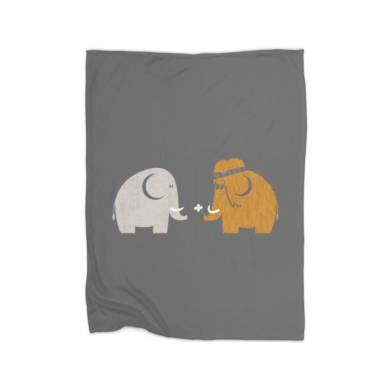 Mammoths were Hippies Home Blanket by Threadless Artist Shop