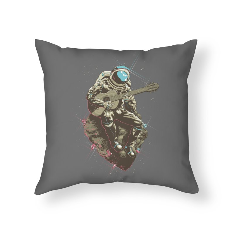 Lonely Man Home Throw Pillow by Threadless Artist Shop