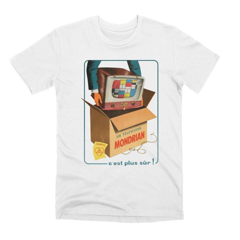 Mondrian Channel Men's T-Shirt by Threadless Artist Shop