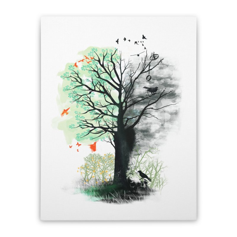They Loved the Landscape to Death Home Stretched Canvas by Threadless Artist Shop