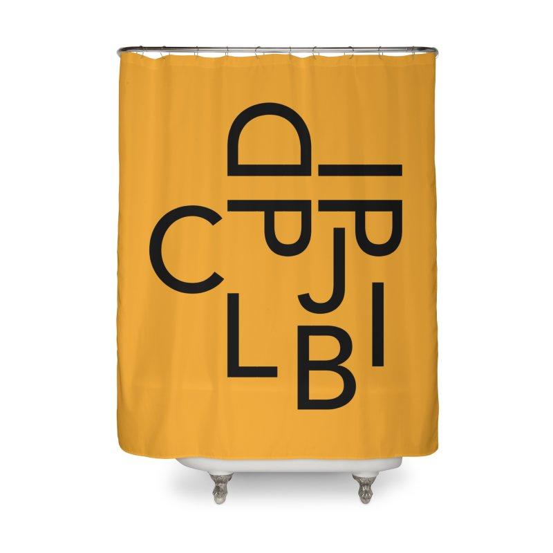 Type Face Home Shower Curtain by Threadless Artist Shop