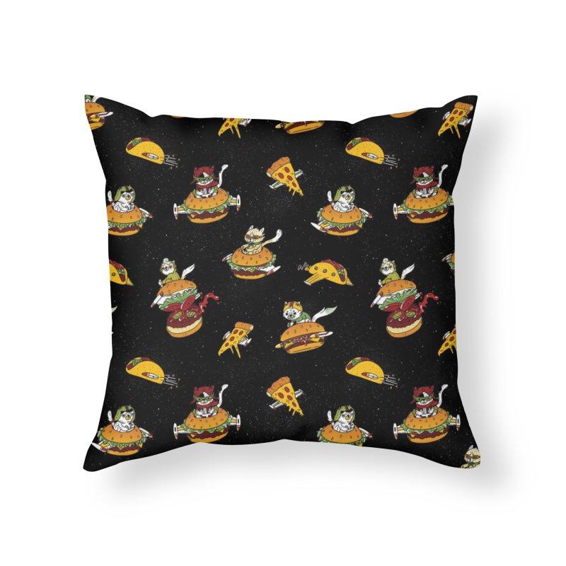 I Can Haz Cheeseburger Spaceships? Home Throw Pillow by Threadless Artist Shop