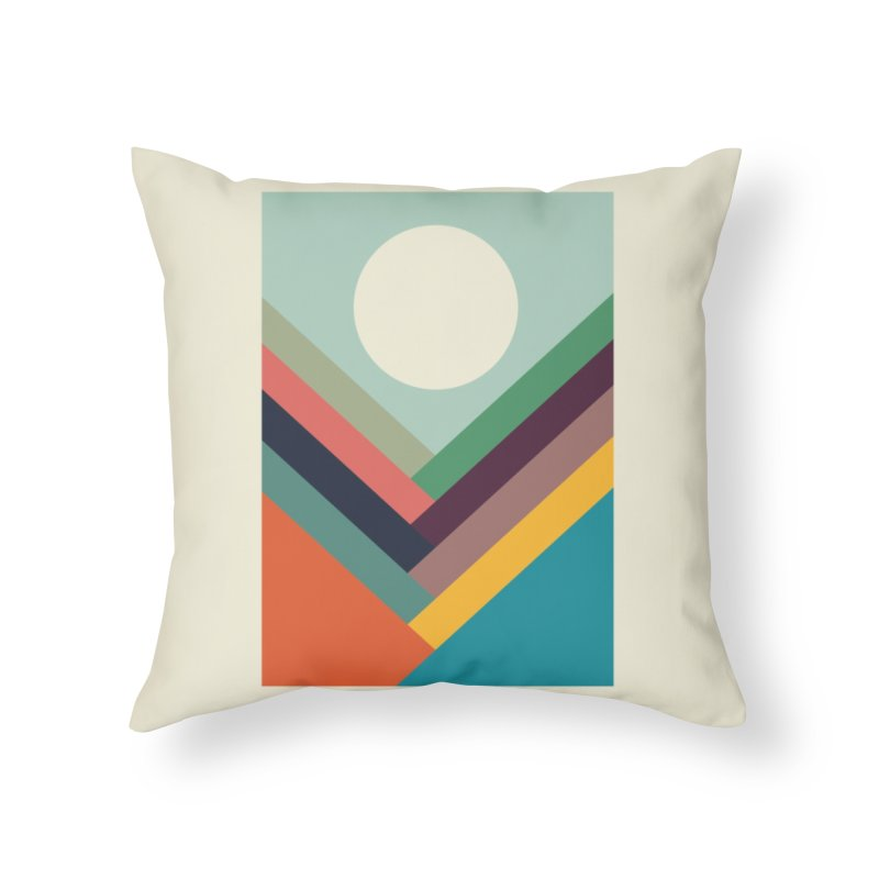 Rows of Valleys Home Throw Pillow by Threadless Artist Shop