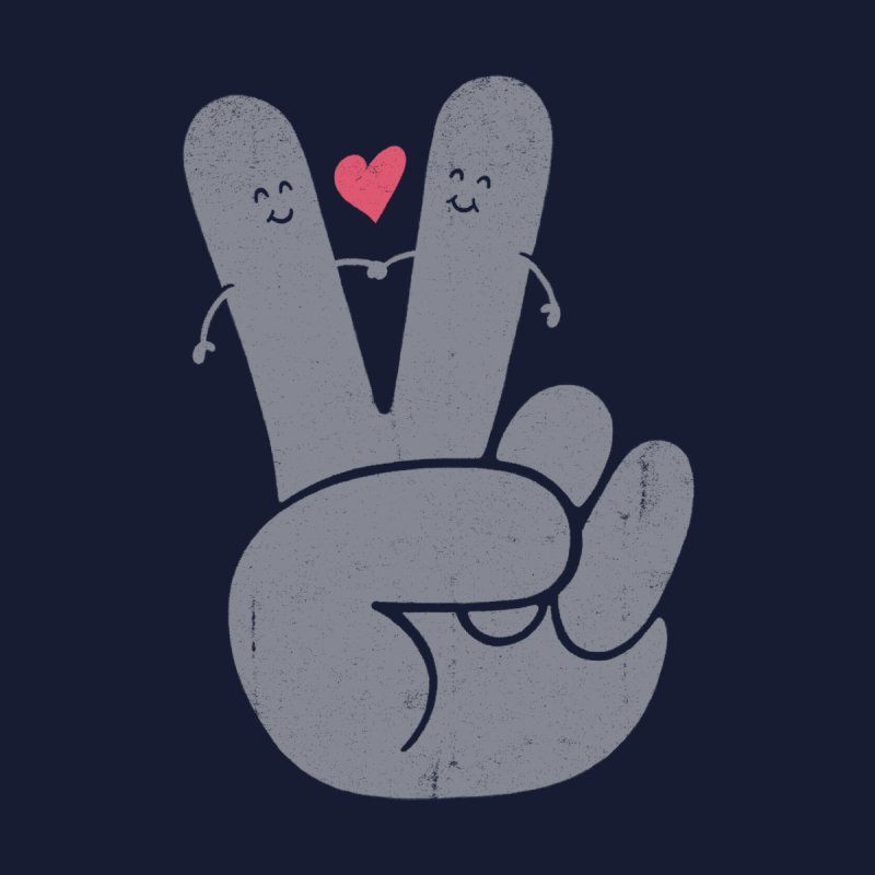 Peace & Love Accessories Greeting Card by Threadless Artist Shop