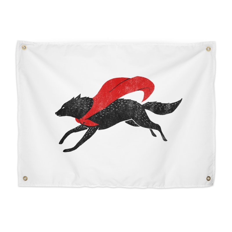 The Red Wolf Home Tapestry by Threadless Artist Shop