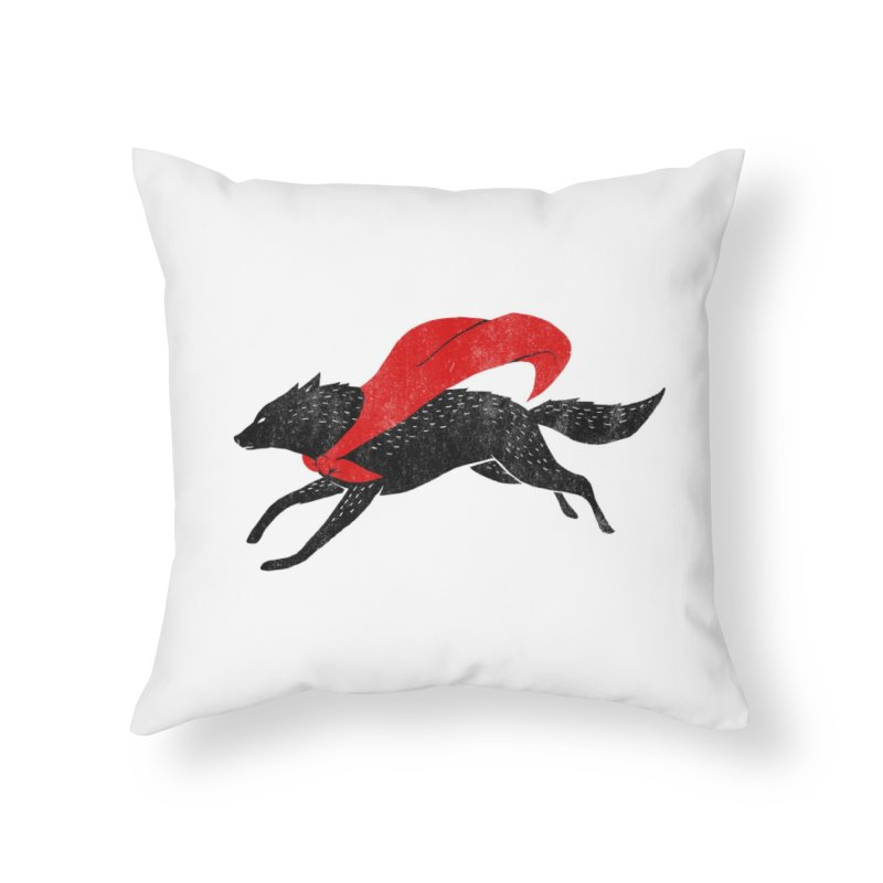 The Red Wolf Home Throw Pillow by Threadless Artist Shop