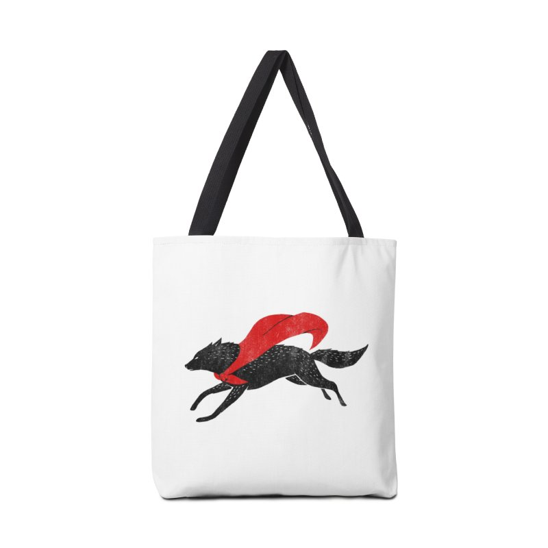 The Red Wolf Accessories Bag by Threadless Artist Shop