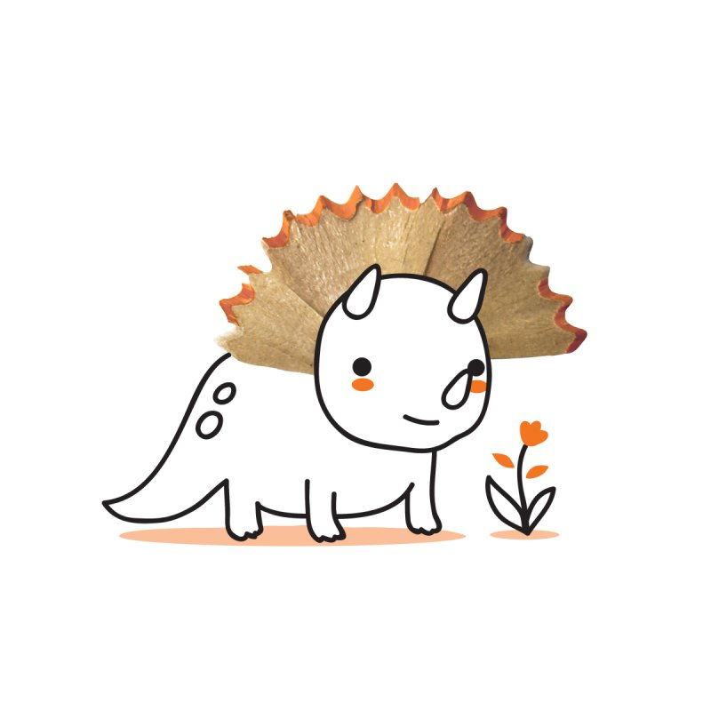 Tiny Triceratops Accessories Zip Pouch by Threadless Artist Shop