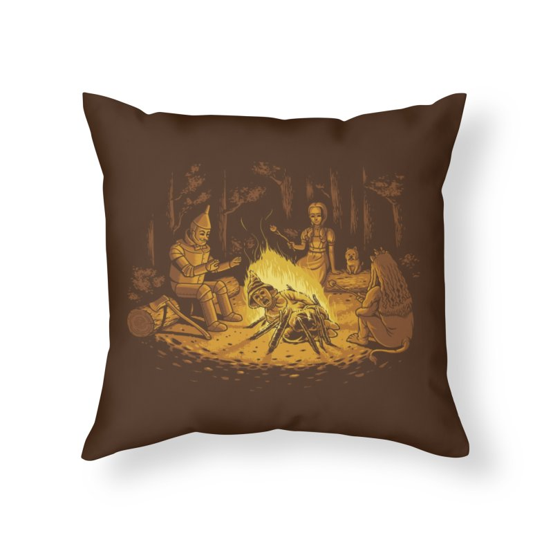 Campfire Home Throw Pillow by Threadless Artist Shop