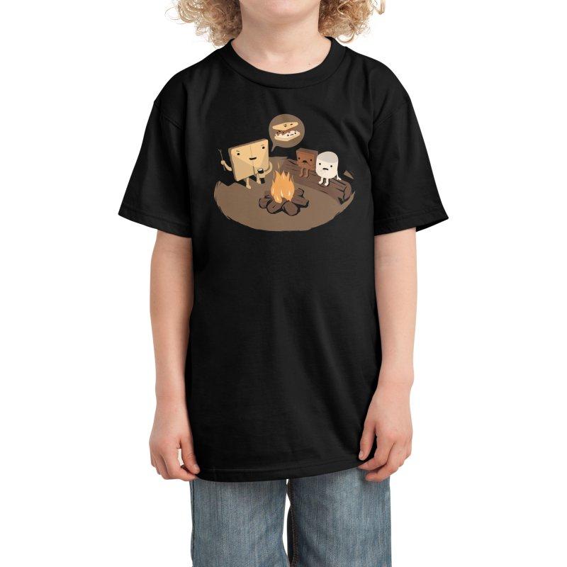 Tell Us S'more Kids T-Shirt by Threadless Artist Shop