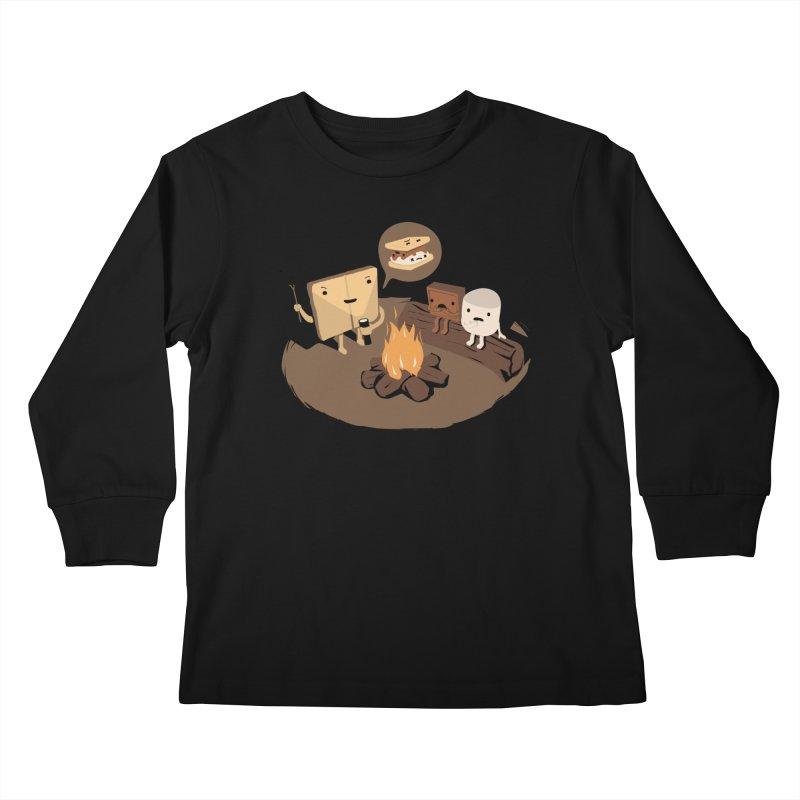 Tell Us S'more Kids Longsleeve T-Shirt by Threadless Artist Shop