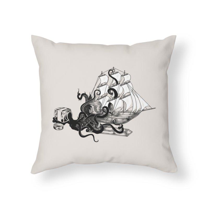 inksPIRATE Home Throw Pillow by Threadless Artist Shop