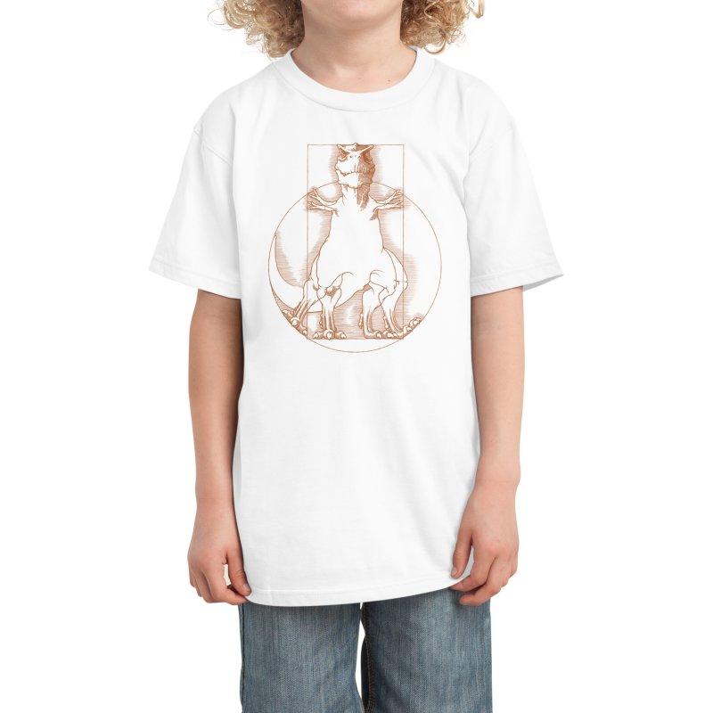 Vitruvian T-Rex Kids T-Shirt by Threadless Artist Shop