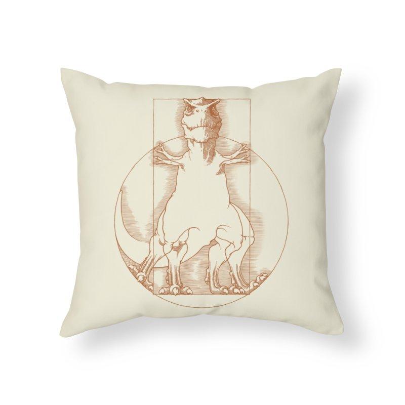 Vitruvian T-Rex Home Throw Pillow by Threadless Artist Shop