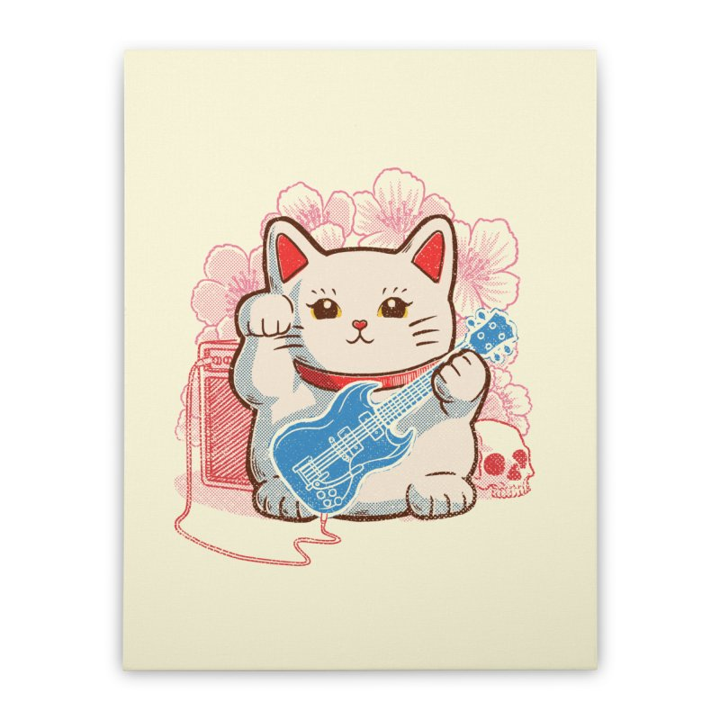 Lucky Rock Home Stretched Canvas by Threadless Artist Shop