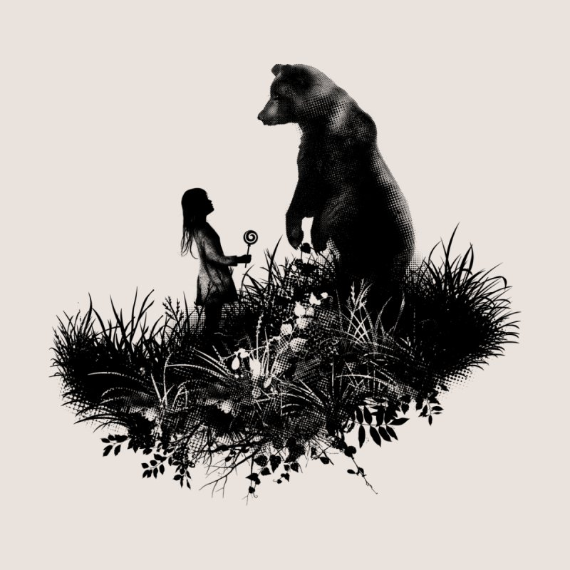 The Bear Encounter Men's T-Shirt by Threadless Artist Shop