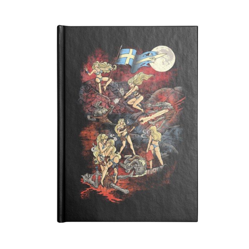SWEDISH BIKINI WEREWOLF DESTRUCTION UNIT Accessories Notebook by Threadless Artist Shop