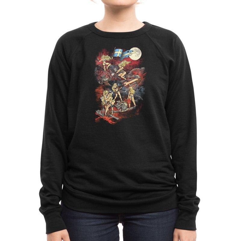 SWEDISH BIKINI WEREWOLF DESTRUCTION UNIT Women's Sweatshirt by Threadless Artist Shop