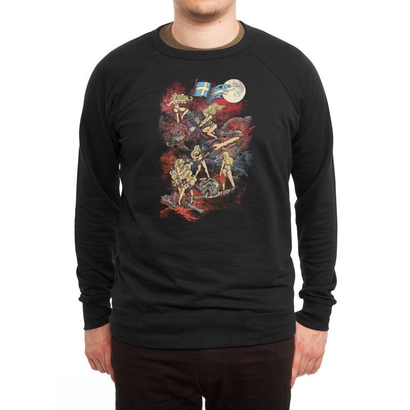 SWEDISH BIKINI WEREWOLF DESTRUCTION UNIT Men's Sweatshirt by Threadless Artist Shop