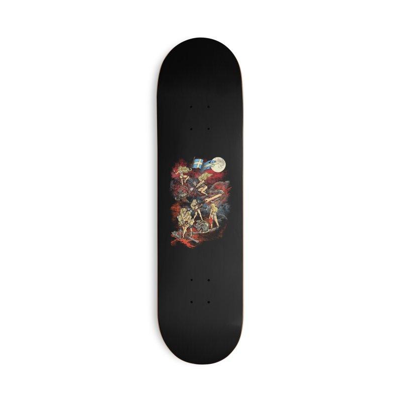 SWEDISH BIKINI WEREWOLF DESTRUCTION UNIT Accessories Skateboard by Threadless Artist Shop