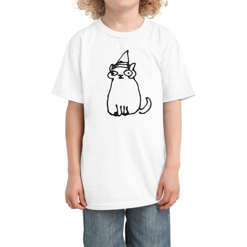 Wizard Cat Kids T-Shirt by Threadless Artist Shop