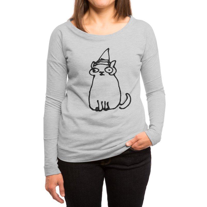 Wizard Cat Women's Longsleeve T-Shirt by Threadless Artist Shop