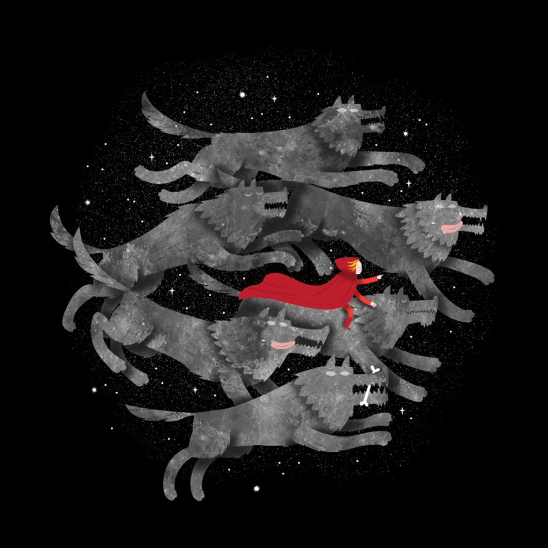Run with the Pack Home Throw Pillow by Threadless Artist Shop