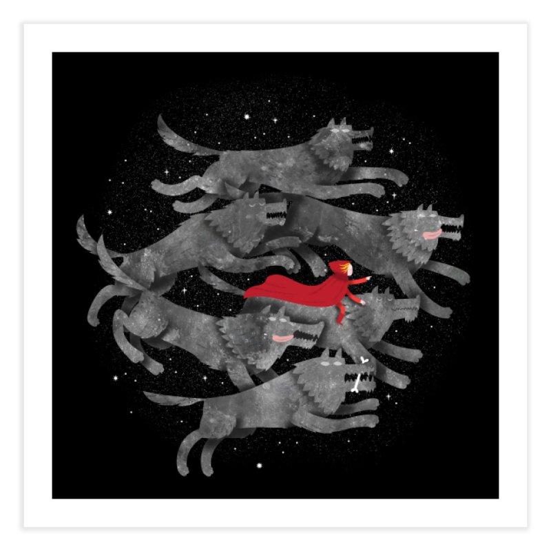 Run with the Pack Home Fine Art Print by Threadless Artist Shop