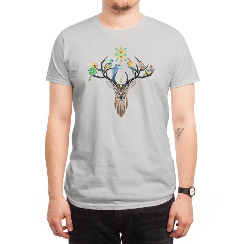 Deer Birds Men's T-Shirt by Threadless Artist Shop