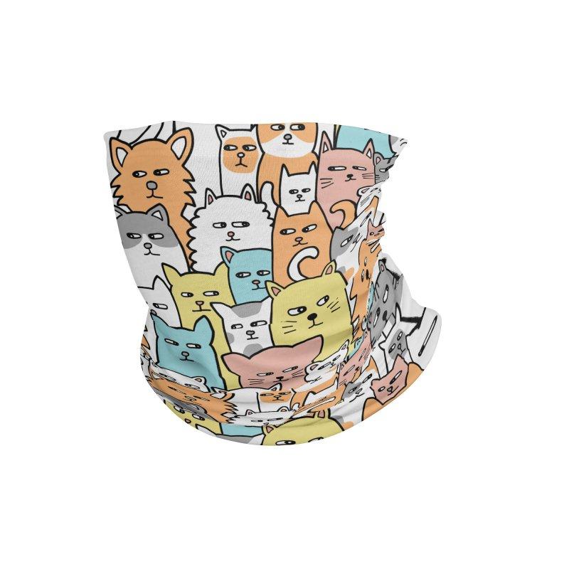 Suspicious Meow Accessories Neck Gaiter by Threadless Artist Shop